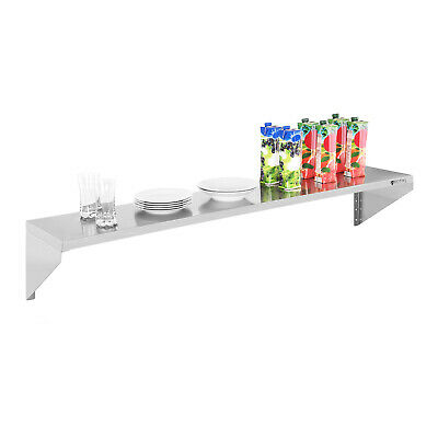 Practical Simple Stainless Steel Kitchen Shelf Easy Mount And Clean 30X150Cm