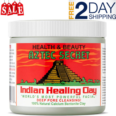 Indian Healing Clay Deep Pore Cleansing Facial Body Mask Aztec 1 LB - Free Ship