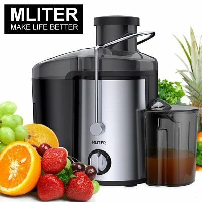 MLITER AJ10B 400W Whole Fruit Juice Extractor - Black and Silver