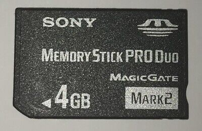 Sony 4GB Memory Stick PRO Duo Mark 2 for Cybershot Cameras Video Photos PSP