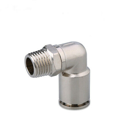 High Pressure Air Pneumatic Push In Fitting Elbow Connector Male for 4~16mm Hose
