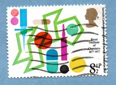 GB/UK stamp 1977 Institute of Chemistry - Steroids SG1029 (1 stamp)