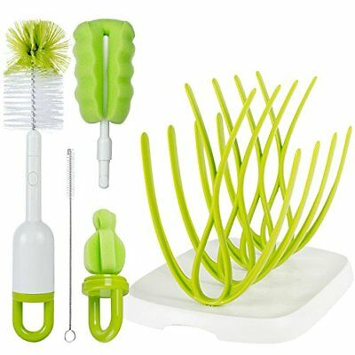 Lullababy Baby Bottle Brush with Dryer Rack & Nipple Brush OPENBOX