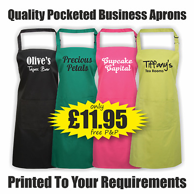 Printed Personalised Apron Custom Beauty Hairdresser Chef BBQ Mothers Day PR154
