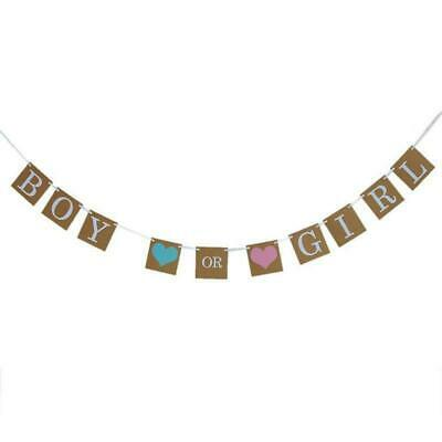 Boy Or Girl Baby Shower Bunting Party Banner Garland Photo Props Decoration Sign