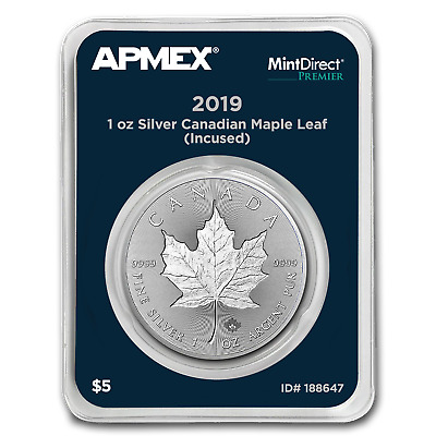 2019 Canada Silver Incused Maple Leaf (MD® Premier Single) - SKU#188647