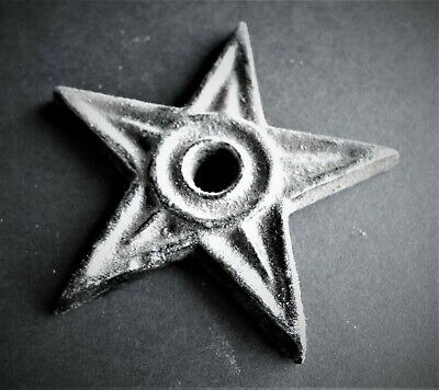 "3"" Cast Iron Star Architectural Stress Washer Texas Lone Star Rustic Ranch"
