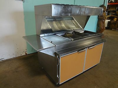 """H.d. Commercial S.s. 66""""W Lighted, Heated Fried Food Dump/Holding Station"""