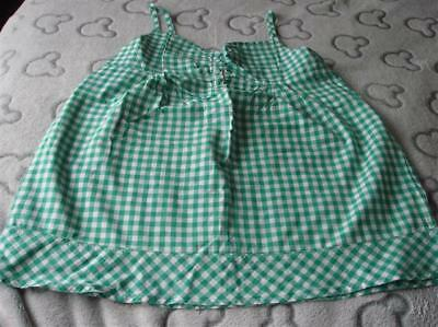 Girls Next Green Gingham Cami Top Aged 9/10 Years