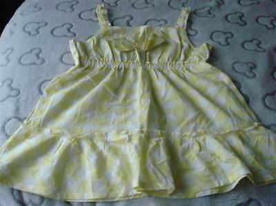 Girls Bnwt George Yellow Gingham Cami Top Aged 9/10 Years