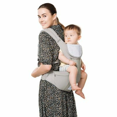 Kinmbra 360 Ergonomic Baby & Children Carrier Front and Back Positions (GRAY)