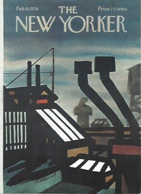 COVER ONLY ~The New Yorker magazine ~ REILLY ~ February 9 1976 ~ Urban Rooftops
