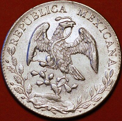 8 Reales 1896 G RS Silver Mexicana Republic