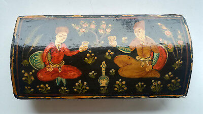 Antique Old Ottoman Islamic Papier Mache Lacquer Only Top Cover from Box