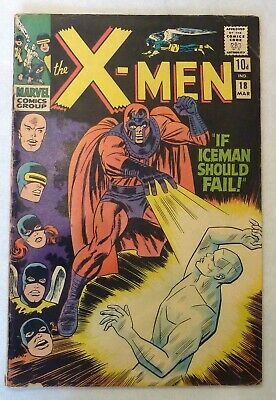 X-Men 18 First Series Silver Age 1966  Marvel Comics Magneto VG+