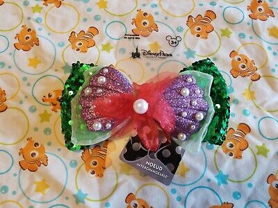 Disney Parks Swap Your Bow LITTLE MERMAID ARIEL Interchangeable - NWT