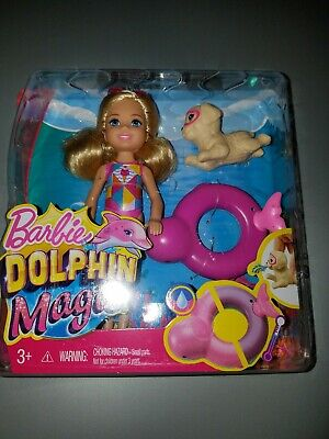 Barbie Dolls NEW Barbie Dolphin Magic Chelsea Doll With Puppy and ...