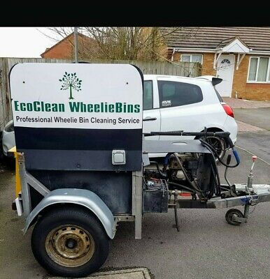 Used wheelie bin cleaning machine