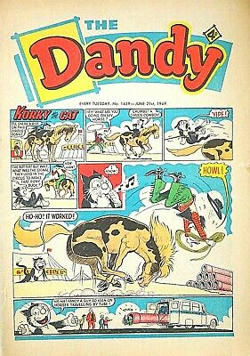 THE DANDY - 21st JUNE 1969 (17 - 23 June) RARE 50th BIRTHDAY GIFT !! VG+..beezer