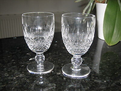 "Waterford Crystal Colleen Claret Wine Glasses 4 3/4"" Signed x 2 Ex.Con"