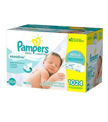 PAMPERS Sensitive Baby Wipes 1024ct.FREE SHIPPING
