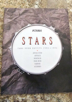 """NEW Tama """"Stars"""" Drum Outfits Catalog 1994-1995"""
