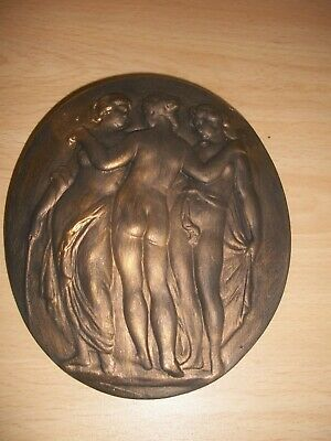 Three 3 Graces Greek Style Rubber Latex Mould Mold Wall Plaque plaster Concrete