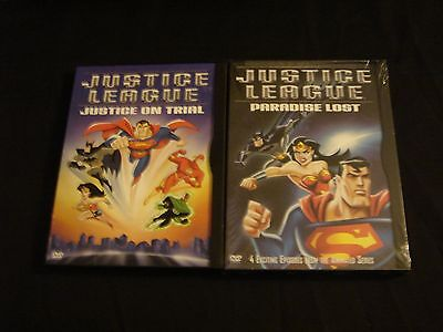 JUSTICE LEAGUE - JUSTICE ON TRIAL (Used) & PARADISE LOST (New)  *2 DVD Set Lot ""