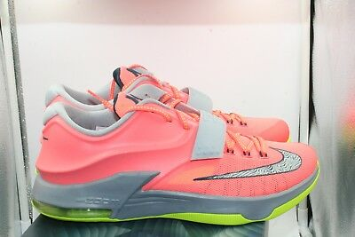reputable site 09cad 43143 Nike KD VII 7 35,000 Degrees DS Size 10.5 Bright mango Grey Volt Kevin  Durant