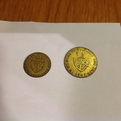 In Memory Of The Good Old Days 1788 & 1797 Tokens......