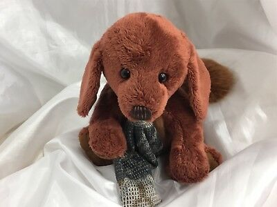 Charlie Bears Duffle The Daschund Pup Plush Fully Jointed Bnwt And Bargain Price