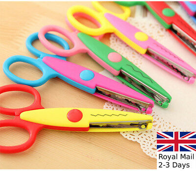 4 Pack Childrens Card and Paper Crazy Cutter Scissors 4 Shapes Kleiber