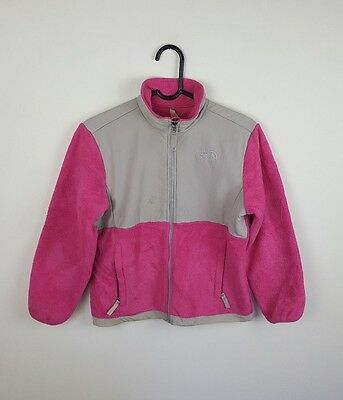 Girls Youths Pink Vtg The North Face Athletic Sports Zip-Up Jacket Coat Uk M