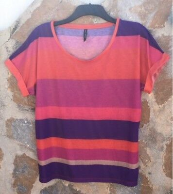 Marks & Spencer Multi Striped Top/Tshirt Size 16 .Never Worn.