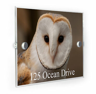 Barn Owl House Number Plaque Home Address Sign