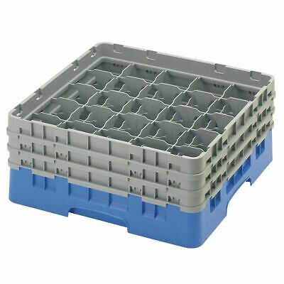 Cambro 25S638168 Camrack Blue Full Size 25 Compartment Glass Rack