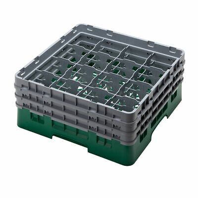 Cambro 16S638119 Camrack Green 16 Compartment Glass Rack