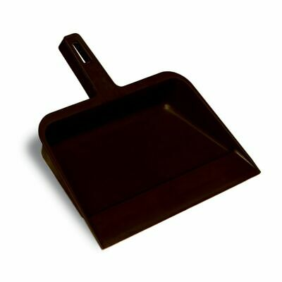 "Continental 712 Black Plastic 12"" Dust Pan"
