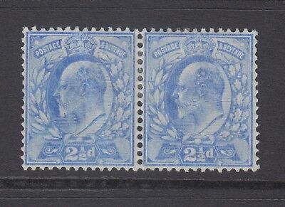 Pair of GB KEVII 2.1/2d Pale Ultramarine SG231 Edward VII Mint Hinged Stamps