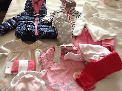 Baby Girl Clothes Bundle 0-3 Months, BNWT. Next,nutmeg,jo Jo Mama, Disney Baby.