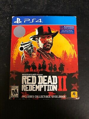 STEELBOOK Collectible Red Dead Redemption II 2 PS4