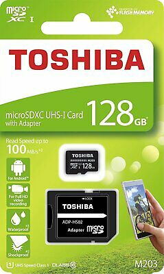 Toshiba 128GB Micro SD 100MB/s Memory card for Sony Xperia L1 Mobile Phone