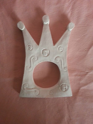 Crown mirror photo frame rubber latex mould mold wall decor embellishment plaque
