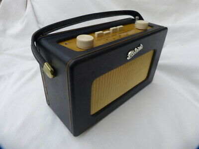 Roberts Revival R250 Vintage Retro Portable Radio Navy Leatherette Am/Fm Lw Mw