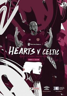 Heart of Midlothian v Celtic 2018/19 brand new football programme