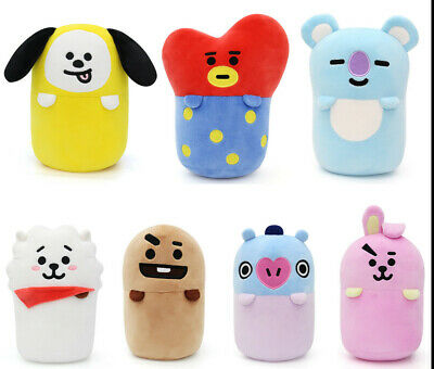 Kpop BTS BT21 Soft Mini Nap Cushion Pillow TATA RJ MANG CHIMMY Plush Doll Toy