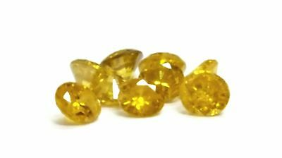 9 Round Brilliant Excellent Cut Loose Diamond 0.39CTW Fancy Canary Yellow Color