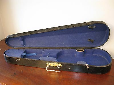 Violin Case Antique Victorian Vintage Ebonised Wood Brass Cabinet Box C1900