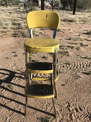 Awesome Vintage Fold Out Retro Mid Century Step Stool Metal Folding Machost Co Dining Chair Design Ideas Machostcouk
