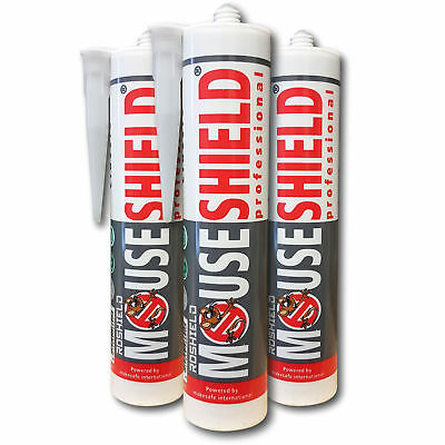 Mouseshield 3 x Mouse Sealant Hole Blocker - Stop Rodent Access Control Prevent